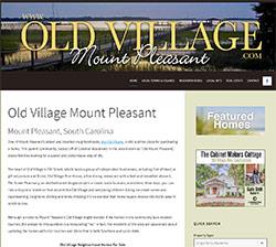 Old Village Mount Pleasant website