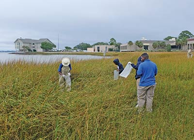 Burke High School students completed their oyster bed restoration project this spring.