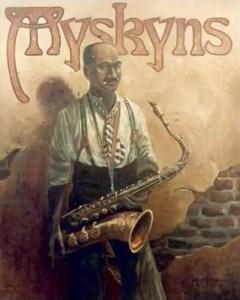 artwork from Myskyns Tavern, Charleston