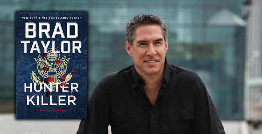 Author Brad Taylor and his book Hunter Killer