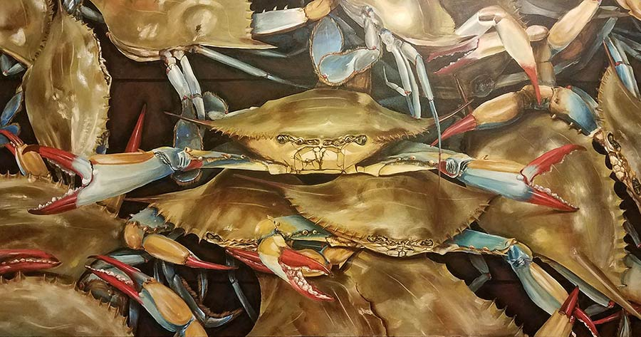Charleston Blues. Painted by Dana Coleman.
