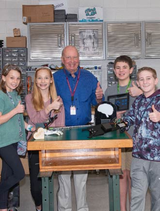 Dr. Mel Goodwin with students