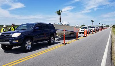 Sullivan's Island, SC checkpoint during the 2020 coronavirus pandemic