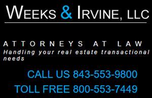 Weeks & Irvine, LLC. Attorneys at Law Handling your real estate transactional needs.