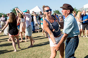 Melissa Magwood joined her father for a dance at the Blessing of the Fleet Festival.