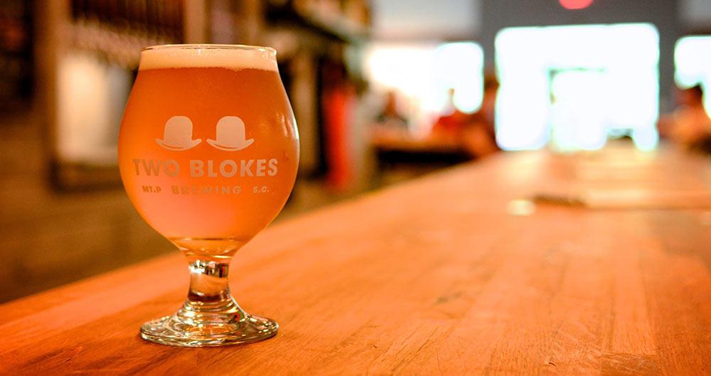 Saison beverage at Two Blokes of Mount Pleasant, SC