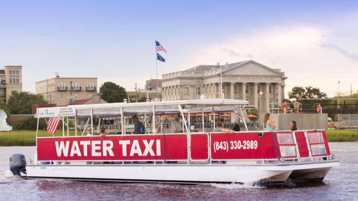 Charleston Water Taxi, photo of a Sightseeing Boat Cruise. 2 Departure Points in Mount Pleasant and 2 Departure Points in Charleston, SC.