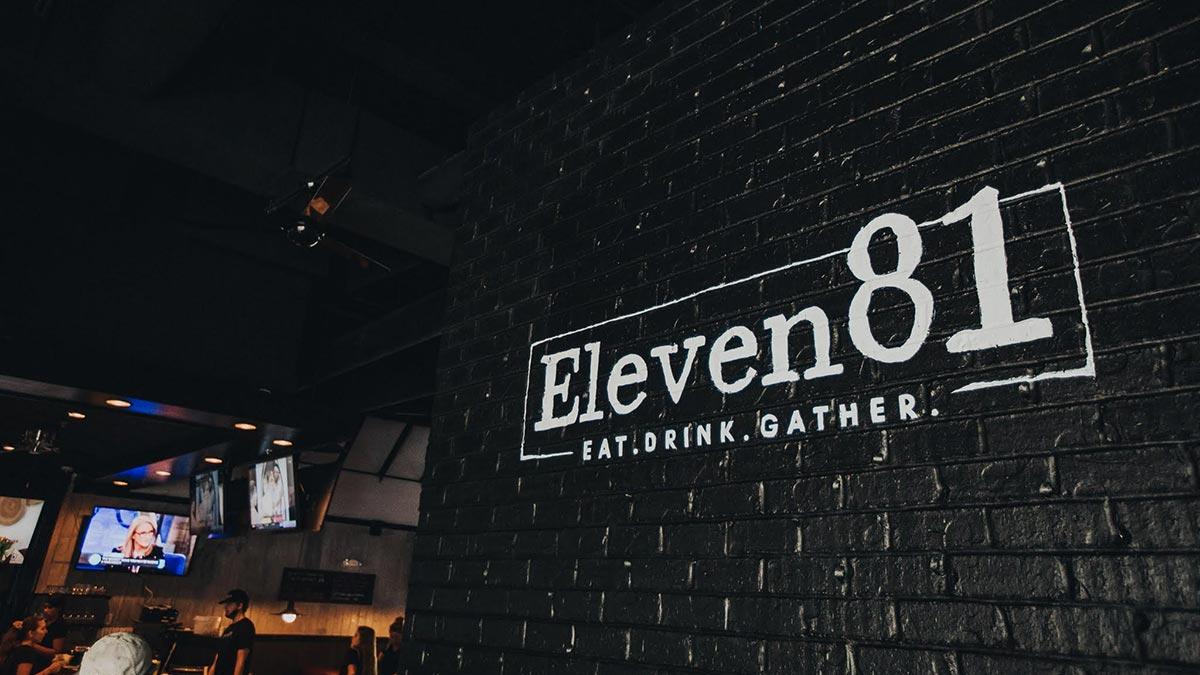 Eleven81, Mount Pleasant, SC restaurant and upscale sports bar.