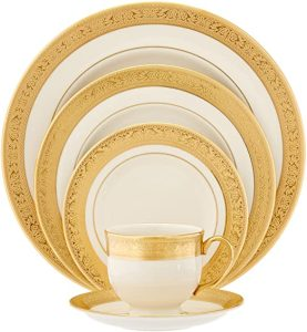 Lenox Westchester Gold-Banded 5-Piece Place Setting, Service for 1 , Ivory & gold