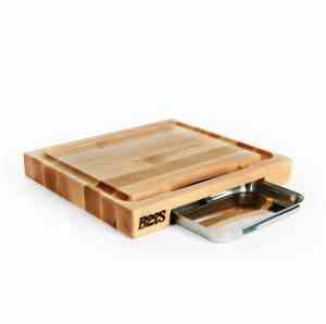 John Boos & Co. Block PM1514225-P Newton Prep Master - Maple Wood, Reversible Cutting Board with Juice Groove and-Pan