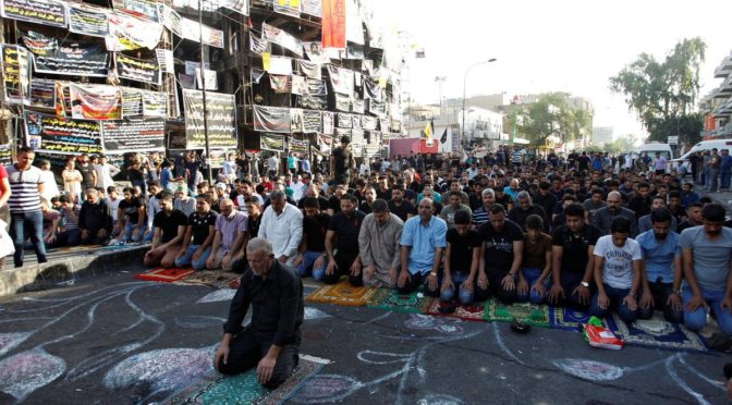 Defiance Personified: Iraqis Perform Eid Prayers At Mossad-Takfiri Blast Site In Karrada
