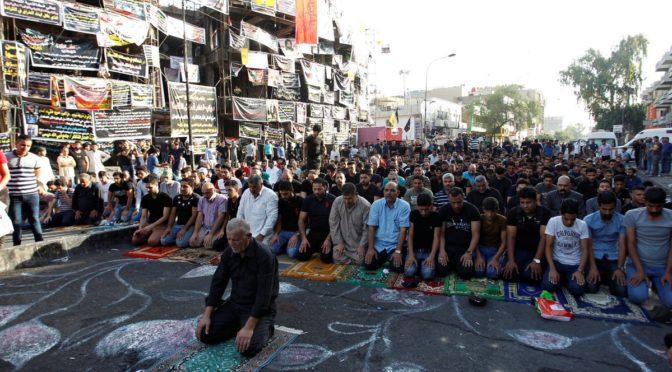 Defiance Personified: Iraqis Perform Eid Prayers At Mossad-Takfiri Blast Site In Karrada