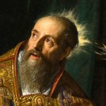 A famous painting of St. Augustine.