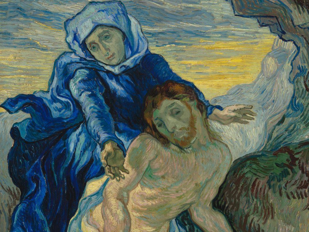 """Vincent van Gogh's """"Pieta (after Delacroix)"""" painting."""