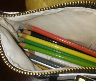 Pouch with Prismacolors