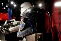 helmet and statue
