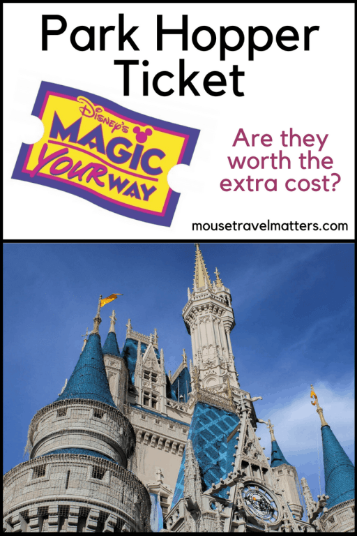 Wondering if park hopper tickets it are worth it on your Disney vacation? Whether you are travelling to Walt Disney World or Disneyland, find out whether and when this ticket upgrade is worth the splurge when you are on a Disney budget. #waltdisneyworld #disney #parkhopperpass #disneybudget #disneywithkids #familytravel