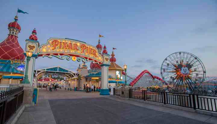 Disneyland has reimagined a whole area of their California Adventure Park and turned it into the Pixar Pier, a whimsical waterfront boardwalk setting where the characters and places of Pixar Animation are brought to life.