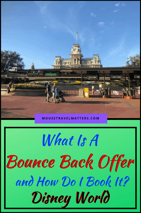 One way to save on future trips is with Bounce Back Offers at Walt Disney World.