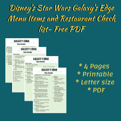 Galaxy's Edge - Disney's Star Wars Land Menu Items and Restaurant Food Listed for Planning