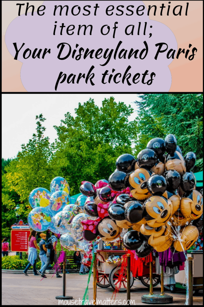 The most essential item of all: Your Disneyland Paris park tickets. Must read for anyone planning a family holiday this summer!  Make a magical family visit to Disney Paris possible with these affordable prices #DisneylandParis #DisneyParis #familyholiday #travelhacks #familytravelhacks #travelingwithkids #holidaywithkids #Disneyonabudget #familytravels #travelingwithchildren #themepark #familytraveling #Disneyholiday #Francefamilytravel #Parisfamilytravel #Europefamilytravel #Disney