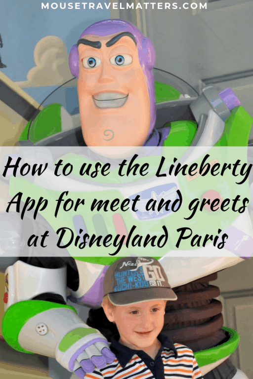 How to use the Lineberty App for meet and greets at Disneyland Paris