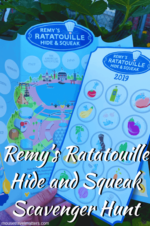 "Remy from Ratatouille ""hide and squeak"" scavenger hunt at the 2019 Epcot international food and wine festival."