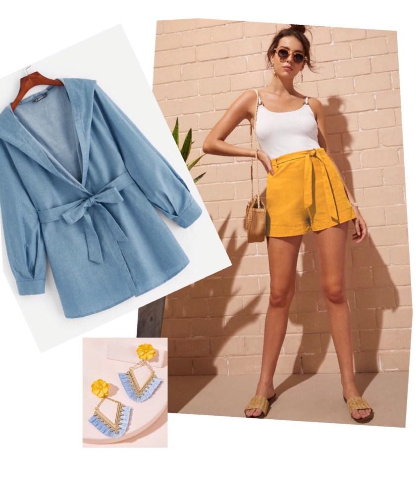 Outfit Azul Cielo y Mostaza