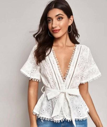 blusas modernas blancas