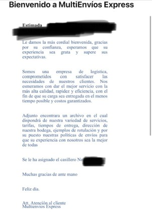 Usar Casilleros desde Honduras