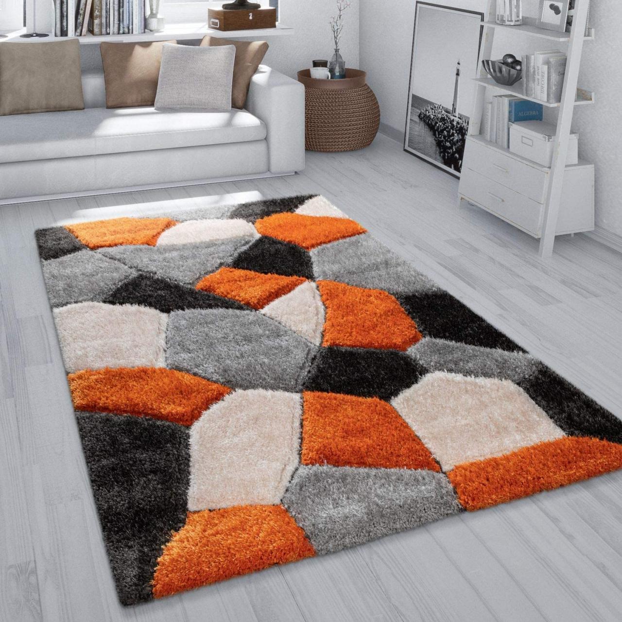 tapis shaggy modernes design et pas