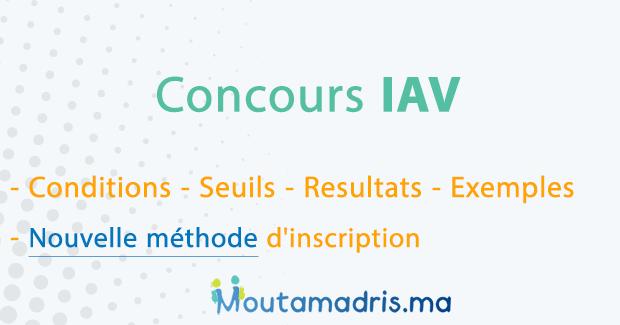 Inscription Concours APESA IAV 2020-2021