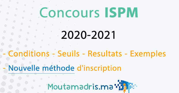 concours ISPM 2020 2021