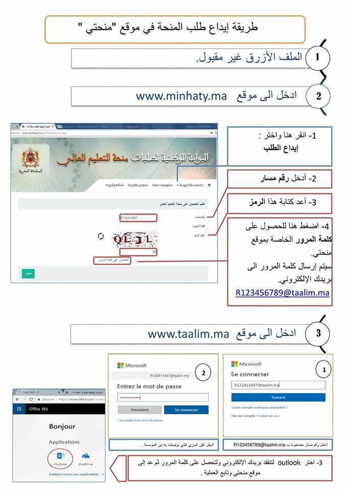 التسجيل في منحتي 2020 Minhaty