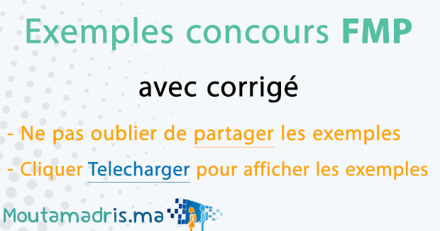 Exemple concours FMP