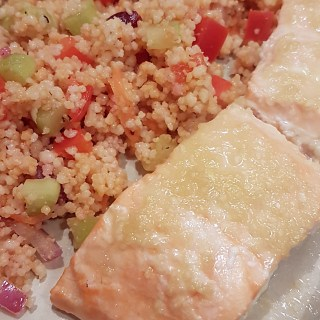 Lemon Ginger Salmon recipe from Mouth Half Full.