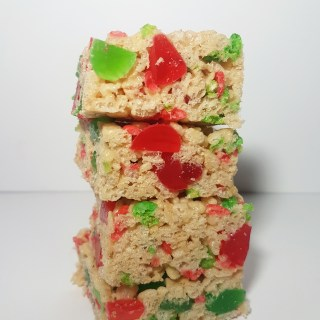 Holiday Rice Krispie Squares
