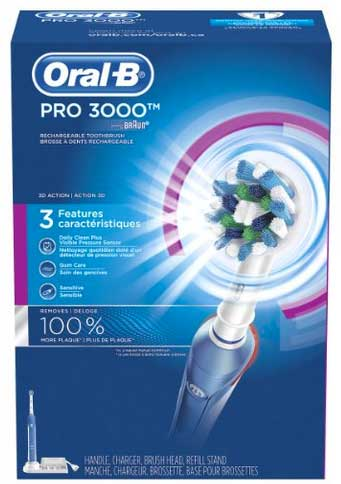 Oral B Pro 3000 toothbrush in box