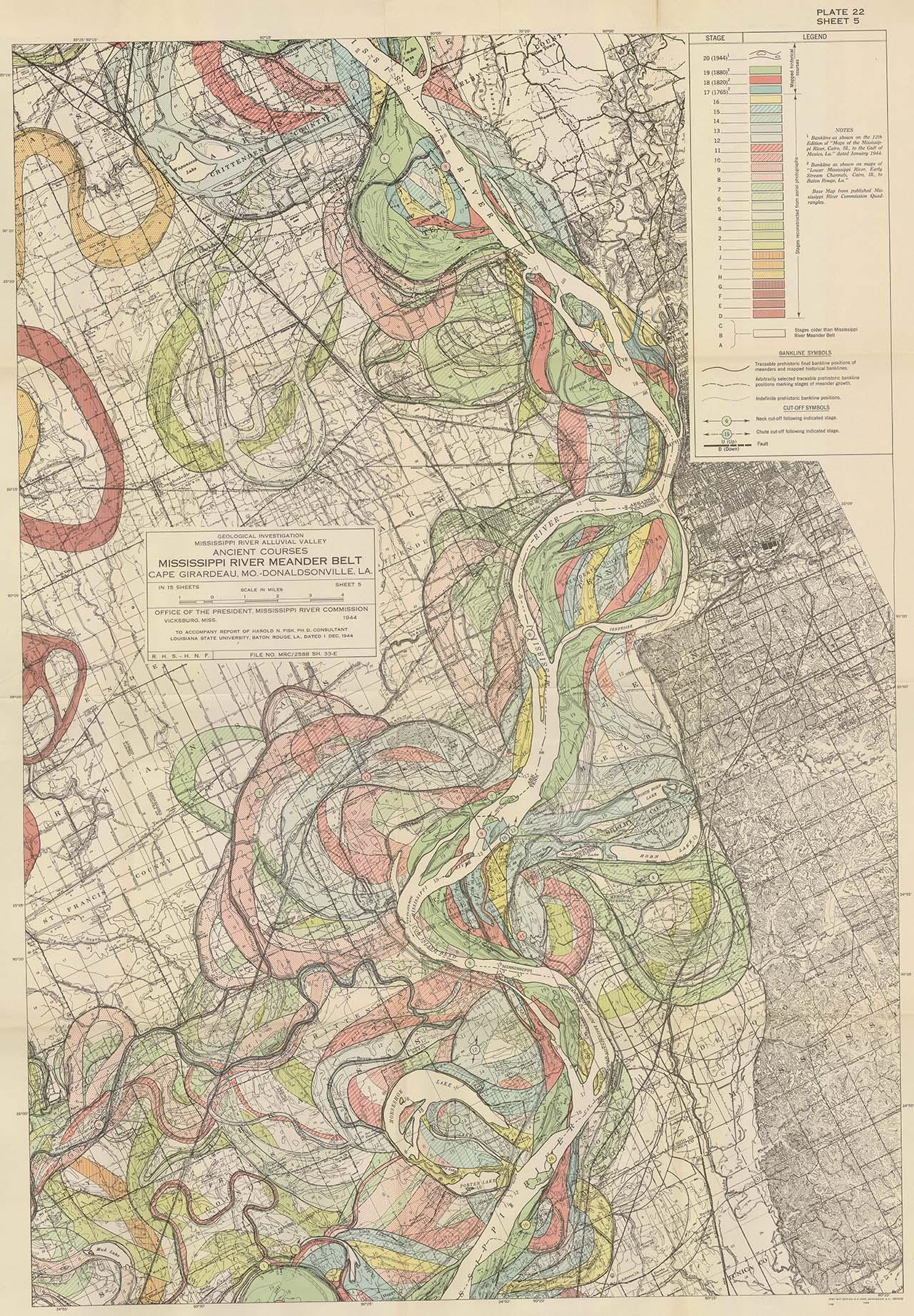 Map Mississippi Meander Maps