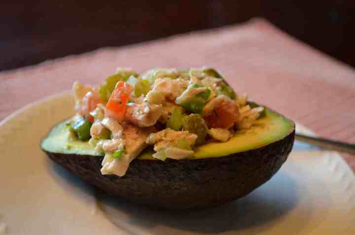 Stuffed Avocado Snack