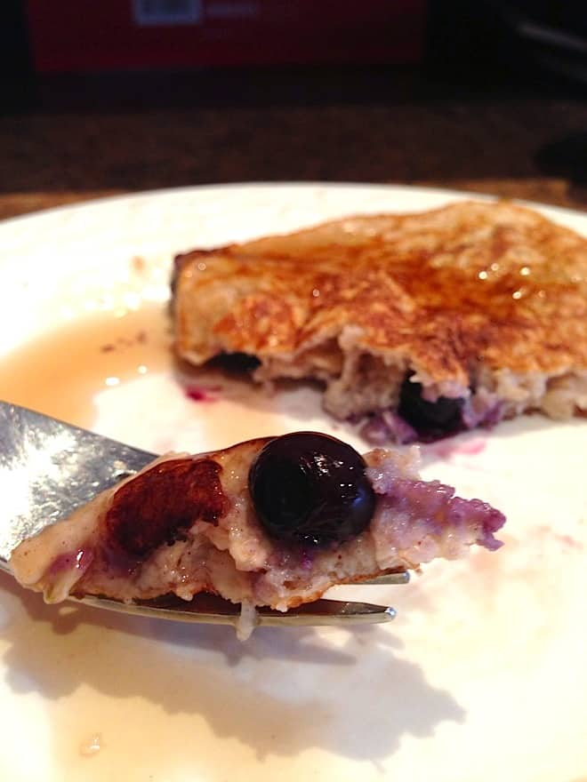 Simplest, Healthiest Blueberry Pancakes