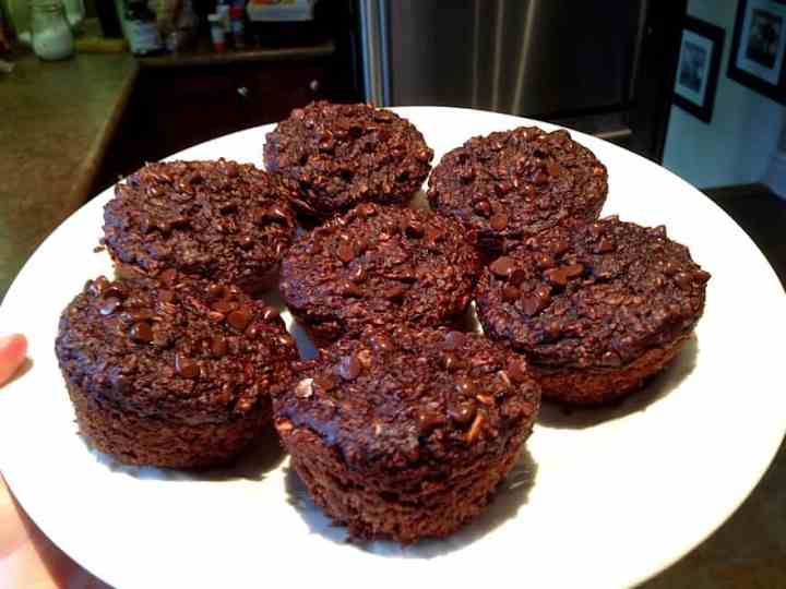 Healthy Chocolate Zucchini Muffins