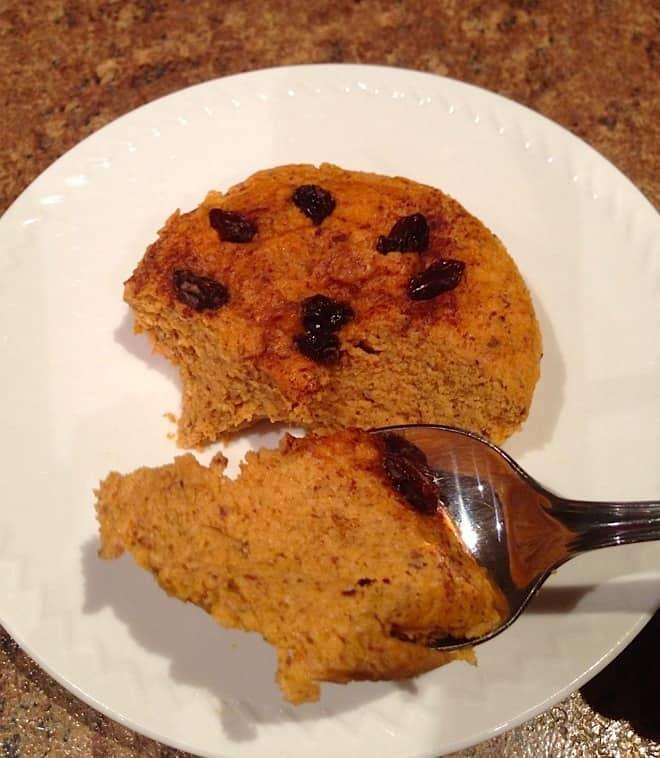 Paleo 1 Minute Pumpkin Cake