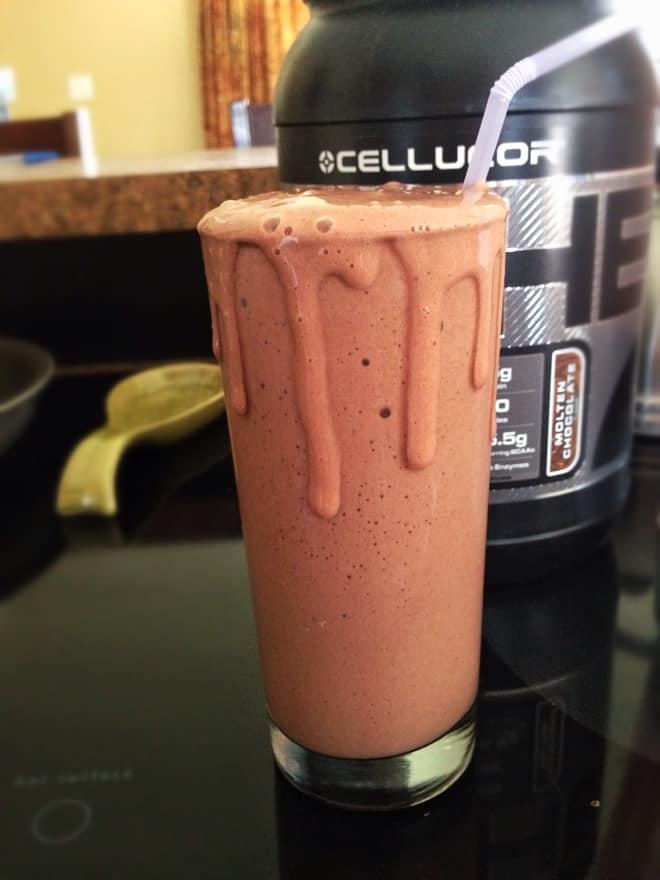 Raspberry Red Velvet Protein Shake