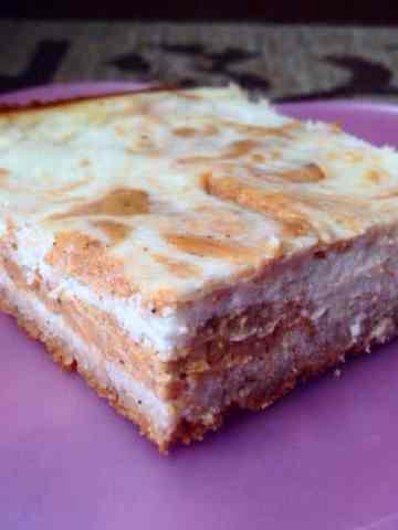 Pumpkin Marble Protein Cheesecake Bars (Keto & High Protein Options)