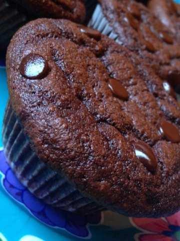 Keto Double Chocolate Muffins