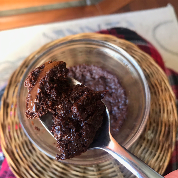 Keto Microwave Fudge Brownie for One