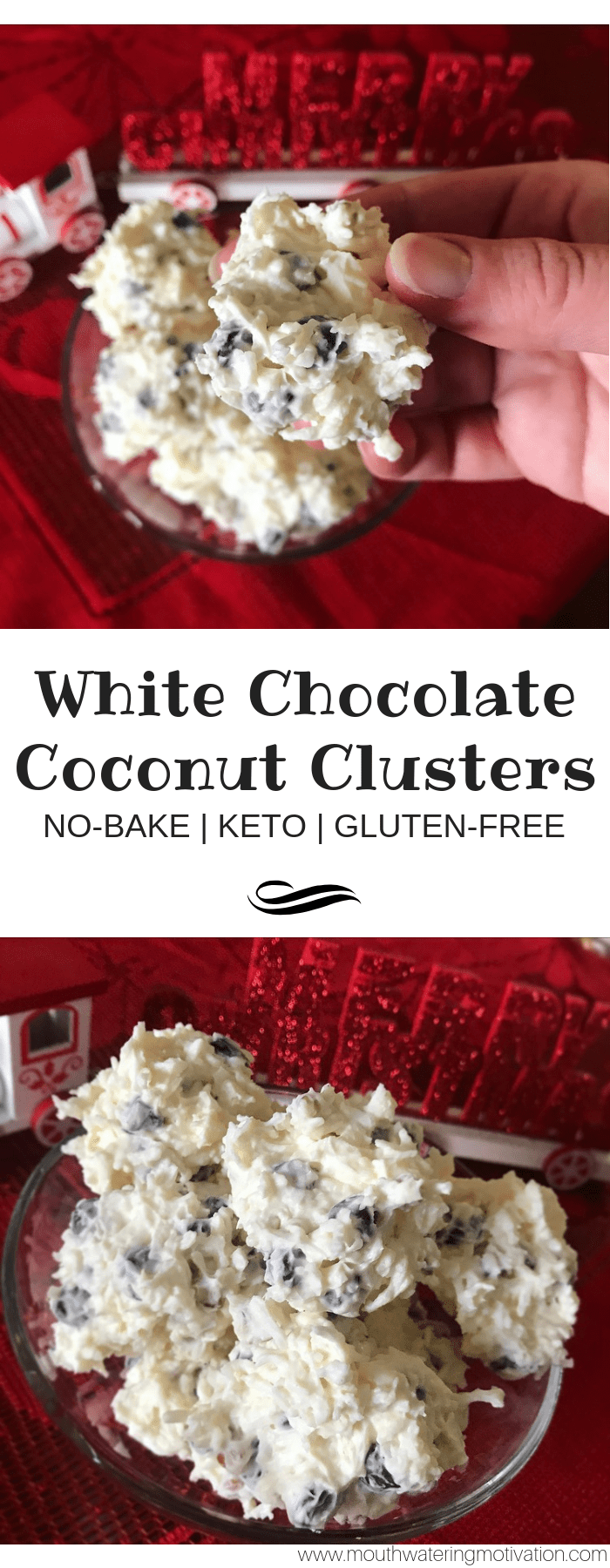 Keto White Chocolate Coconut Clusters