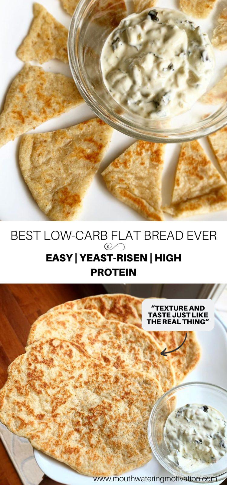 low-carb flat bread