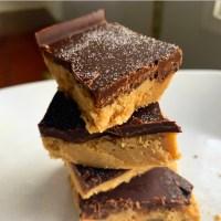 Keto Chocolate Peanut Butter Bars -No Bake